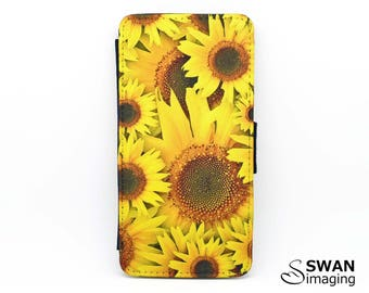 Sunflowers Design iPhone Wallet Case ~ iPhone 6 - iPhone 6S ~ Yellow flowers iPhone wallet case
