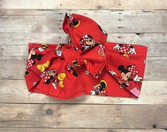 Minnie Mouse head wrap -bow Headband - headband- bow headband for infants, toddlers, and adults - top knot headband