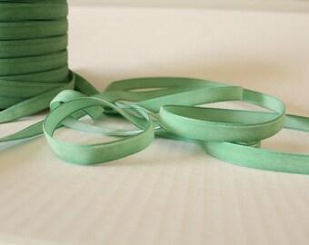 3/8 inch Celery Ribbon / Green Velveteen /   VRYM38-564