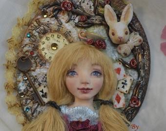 Alice. Brooch, handmade