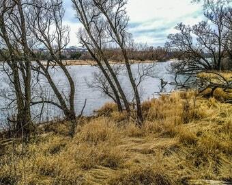 Stormy Landscape Photography, Fall Landscape Printable, Stormy Fall Landscape, Yellow Photo, Speed River Hespeler, Stormy