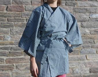 Jacket Kimono - stars motifs - handmade