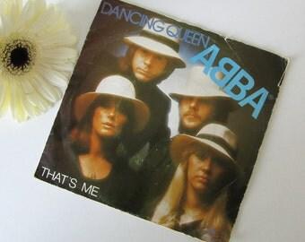 Vintage Vinyl Single ABBA Dancing Queen 16327