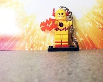 Reverse Flash Lego Inspired Keyring