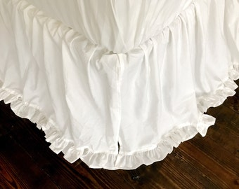 King Bedskirt - King Bed Skirt - King Ruffled Bed Skirt - King Cotton Bed Skirt - White King Bedskirt - White King Bed Skirt - White Bedding