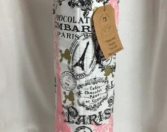WINE TOTE |Housewarming Gift |Wedding|Wine Bottle Tote | Holiday Wine Tote | Hostess Gift | Gift for Her | Handmade |Birthday| Mom|