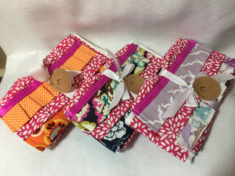 Bib Set | Baby Girl | Baby Shower Gift | Gift | Gift For Her | Gift For New  Mom | Nursery | Burp Cloth | Handmade | Unique Gifts | New Moms