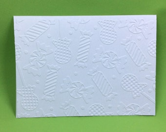 Set of Embossed Christmas Candy Card