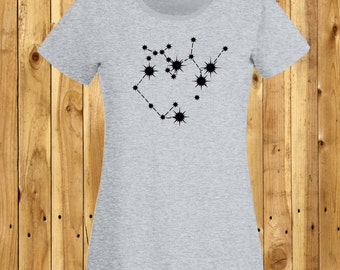 Gemini Constellation Tshirt, Zodiac Twins T-Shirt, Twin Stars Shirt, June Birthday Tee, Star Sign Top, Gemini Constellation, Star Signs Tee