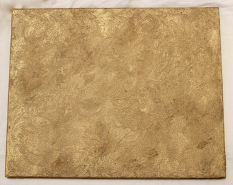 Gold Acrylic Textured Painting