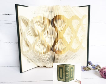 Folded Book Art, Book Art Sculpture, Book Folding, Celtic Knot, Gift for Her, Literary Home Decor, Reader Gift, Celtic Decor, Book Sculpture