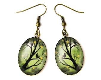 Tree & Birds earrings