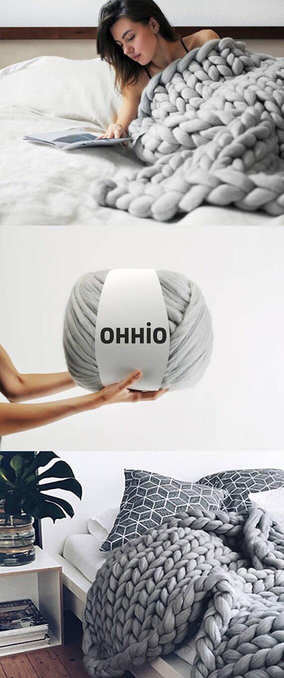 Brazo DIY para hacer punto de lana merino. puntada de 3