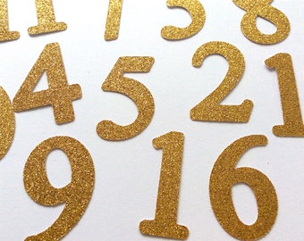 Number cutouts.12 month photo banner.Wedding table numbers.Gold glitter.1st birthday banner.Happy Birthday Banner.Silver Glitter.Custom size