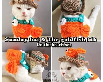 Sunday hat and the goldfish bib