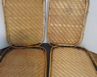 Vintage Bamboo Serving / TV Trays (set of four)