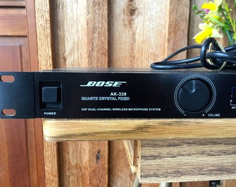 SALE!! Buy 1 get 1/2 off second purchase ELECTRONICS//Vintage Bose AK-339 dual wireless microphone receiver in black