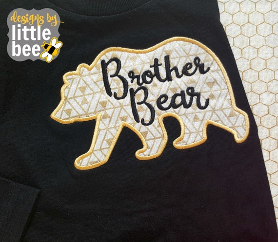 Brother bear little applique new or sister sibling