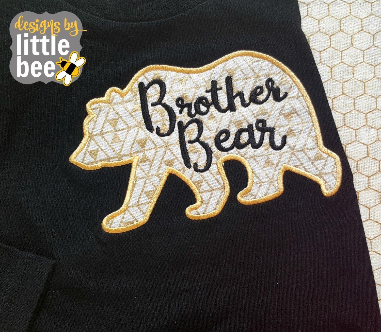 Applique Big Brother Shirt Design