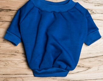 SALE PRICE - one size only - Dog / cat Jumper / Sweatshirt - Blue -  Handmade pet clothes - Ideal for dogs,  puppies and cats