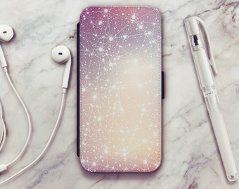 Stars Nebula iPhone 6 Wallet Case, Stars Nebula iPhone 6s Wallet Case, iPhone 5s Wallet Case, iPhone 7 Wallet Case, iPhone SE Wallet Case