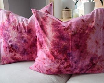 Throw pillow / tie dye throw pillow / tie dye bedding / case ONLY