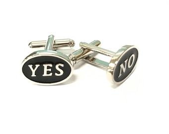 Yes or No Cufflinks