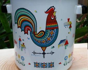Berggren Rooster Stock Pot w/ basket Enamelware