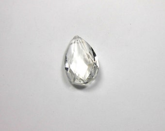 1 Crystal Teardrop, 50mm, Crystal, Teardrop, Pendant, Bead Supply, Jewelry Making, Supplies, Craft Supply, Beads, Jewelry Supplies