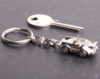 Keychain Porsche convertible car replica collection in 100% handmade workshop by France fashion.