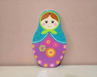 Babushka, Babushka Wall Hanging, Babushka shaped pot bottom, Matryoshka Russian Doll , decorative,  hanging babushka, Pot Bottom, Wall Decor