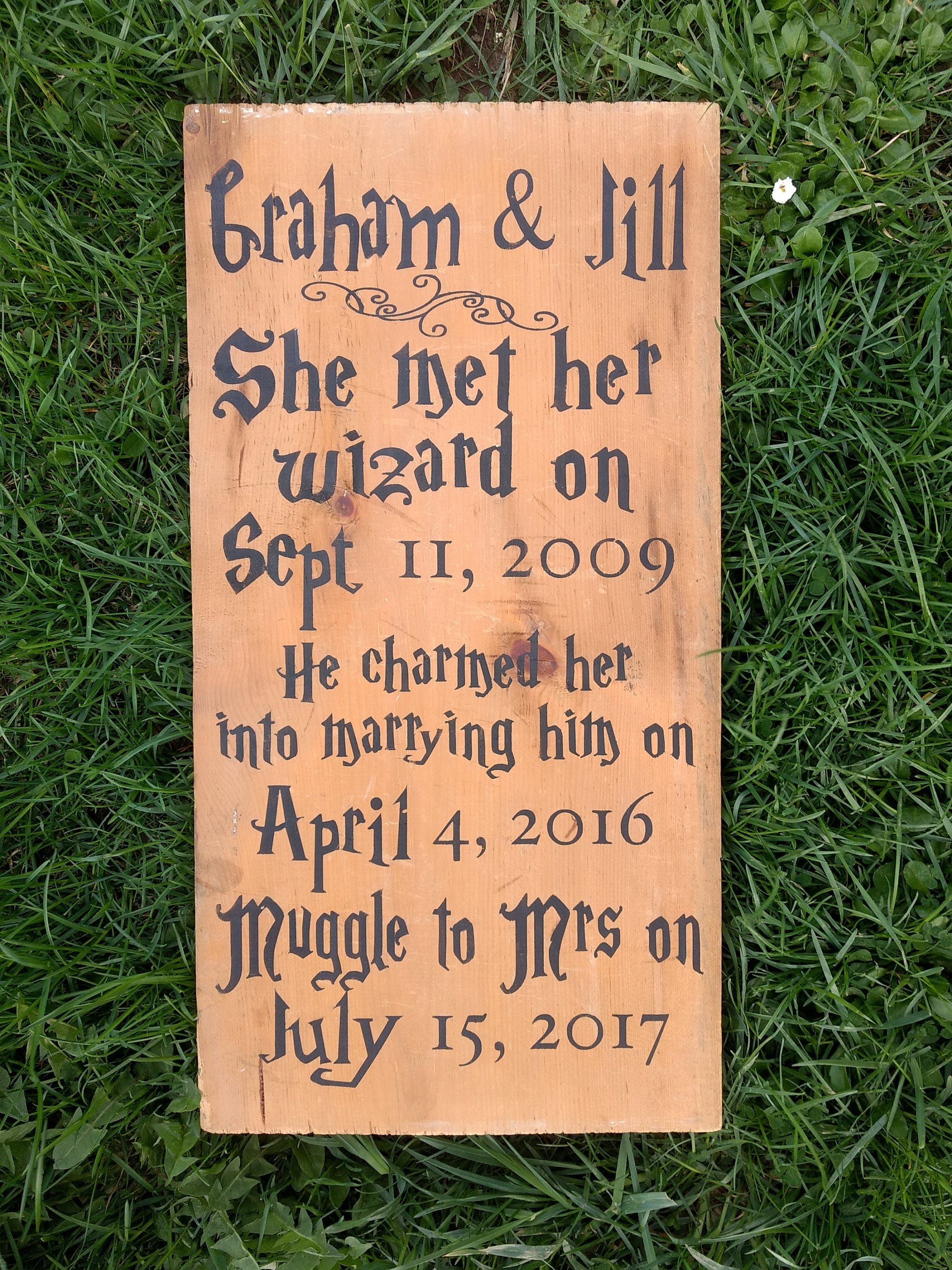 Love Plaques Quotes Wizard Wedding Sign Geekery Magic Wedding Gift Romantic Love