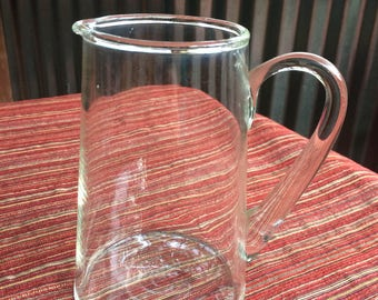 Clear Medium Pitcher,Clear Sauce Pitcher,Small Clear Pitcher,Modern Sauce Pitcher,16 oz pitcher,Small pitcher,Gravy Pitcher,Sauce Pitcher