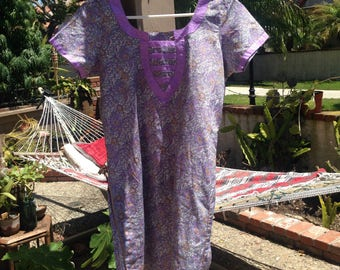 PURPLE FLOWERED KAFTAN