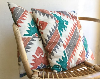 Vintage Southwestern Pillow / Turquoise Print Pillow / Accent Pillow / Ethnic Print Pillow