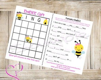 Babee Shower Games ( bee theme baby shower games)