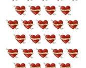 Date Night - Tattoo Theme - Planner Stickers for Horizontal, Vertical ECLP, BuJo, TN, Kikki.K Filofax, Happy Planner etc