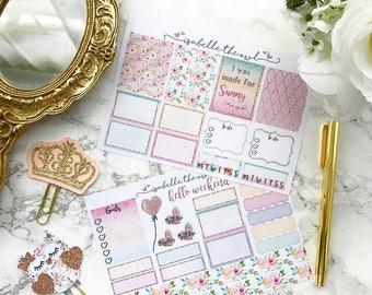 Vertical Sunny Days Personal Sized Weekly Planner Stickers