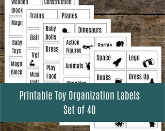 Printable Toy Labels for Toy Bins and Toy Storage Organization: Organizing Printable.  Fantastic Toy Room Organization Tool