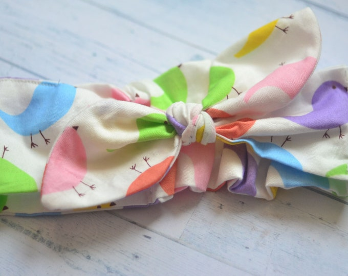 easter baby headband easter hair bow newborn cotton headband first easter outfit easter girl headwrap toddler knot headband spring headband