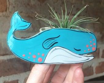 Mom's Day Gift, Teacher Gift, Whale Mini Planter, Air Plant Holder, It Plant Holder, Handmade Planter, Wedding Favors