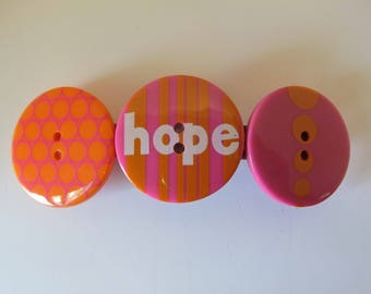 Hope Button Barrette, Birthday Gift, Gifts for her, Gifts for girls, Gifts for teens, Button Barrettes, Hair Accessories, Hair clips