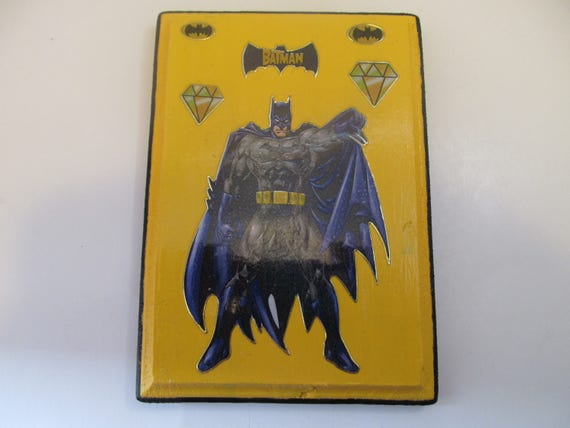 Batman Wood Plaque-Wall Hanging-Birthday Gift-Gifts for