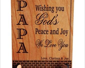 Grandpa Gift, Gift to Grandpa, Papa Christmas Gift, Grandad Gift, Grandfather Keepsake plaque, Granddad Plaque, Grandpa Birthday Gift PGP003