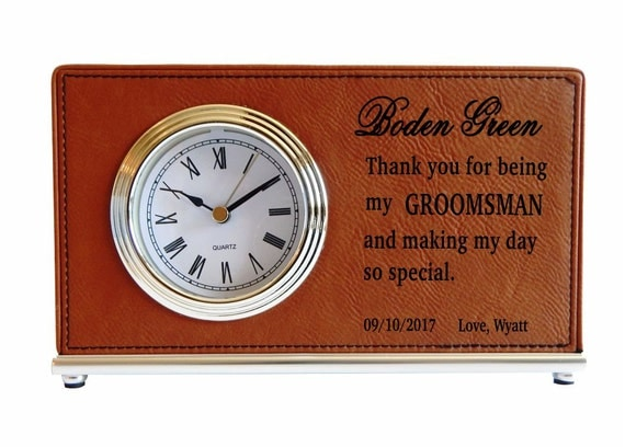Wedding Gift Clock: Groomsmen Custom Desk ClocksThank You Gifts To My