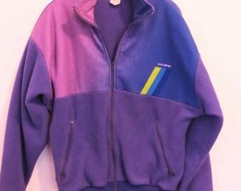 Price Reduced 25% @@A Men's Vintage 80's,Purple Zip Front FLEECE Pile Jacket By LOUIS GARNEAU.M