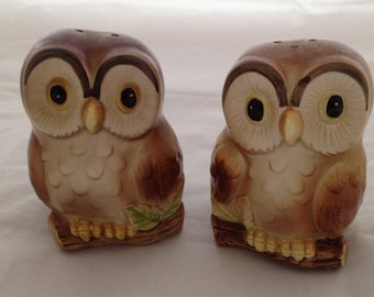 Vintage Otagiri Owl Salt and Pepper Shakers Never Used