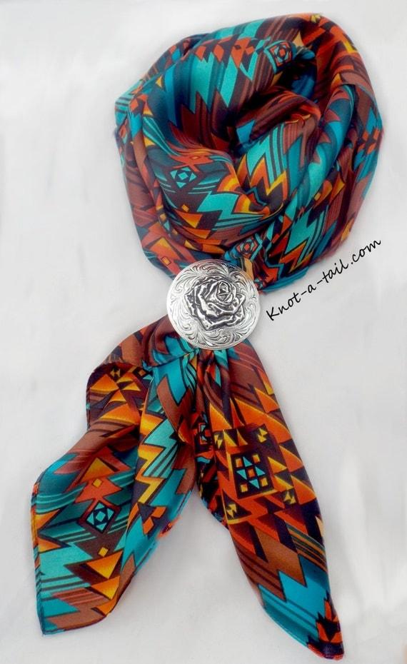 cowboy scarf rag scarf bandana larger size silk
