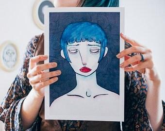 Sorrows art print A4