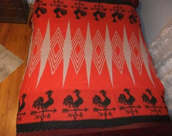 VINTAGE ROOSTER  Blanket